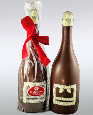 champagne chocolate bottle